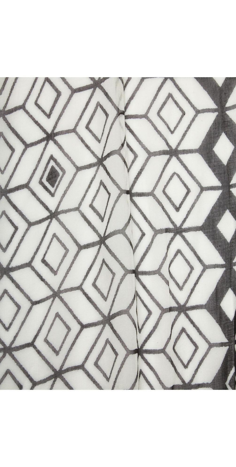 Victoria Weave Geometric Print Scarf main image