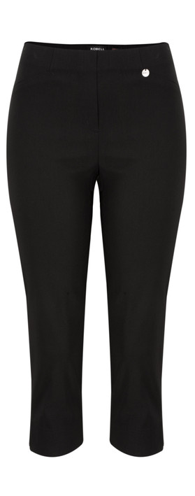 Robell Trousers Rose 07 Slimfit Cropped Trouser Black