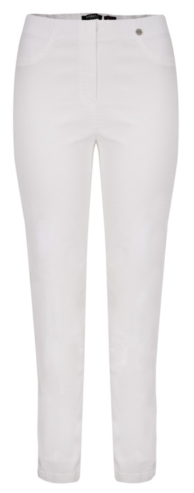 Robell Trousers Bella Slim Fit Jean White