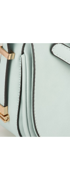 Nova Leathers Saddle Bag Pale Blue