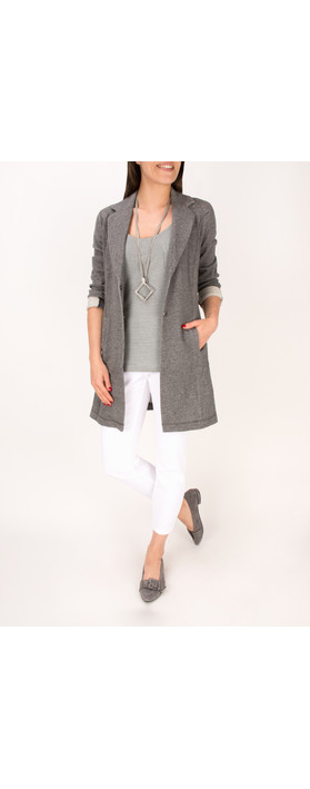 Sandwich Clothing French Terry Long Panelled Blazer True Grey