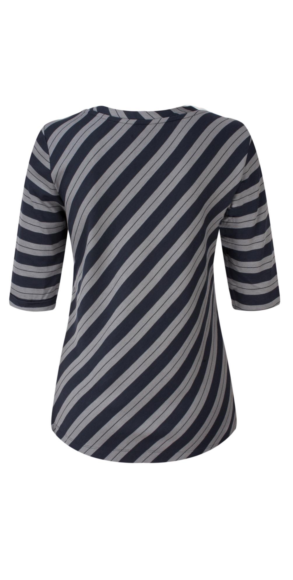 Striped Viscose Jersey Top main image