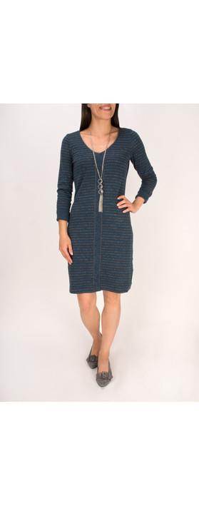 Sandwich Clothing Double Face Striped Jersey Dress Patriot Blue