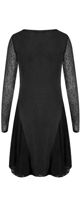 Myrine Lilas Mesh Tunic Dress 5D-Meteorite Black