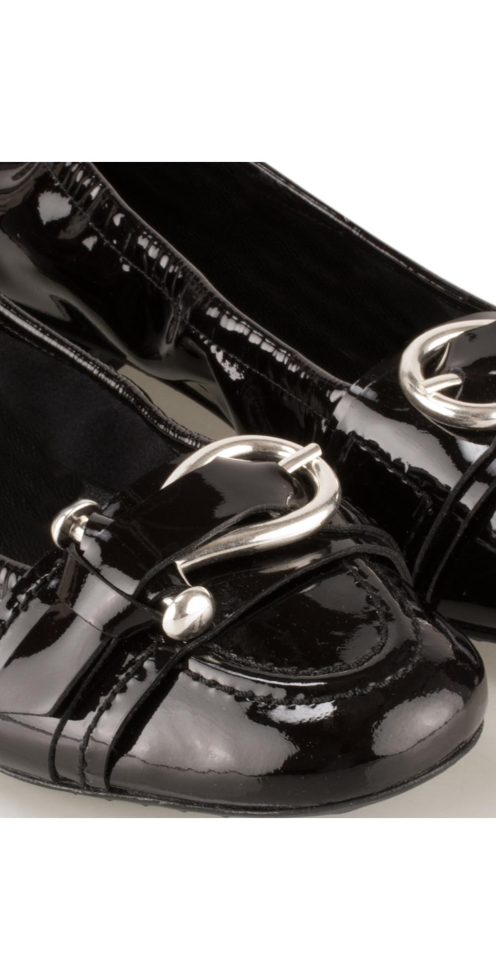 kennel und schmenger malu patent buckle pump in schwarz silver. Black Bedroom Furniture Sets. Home Design Ideas