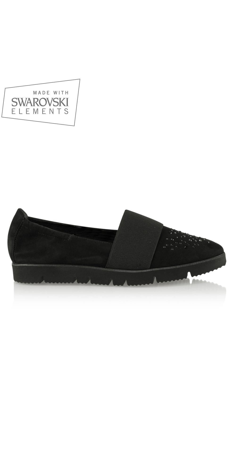 kennel und schmenger pia x crystal shoe with swarovski. Black Bedroom Furniture Sets. Home Design Ideas