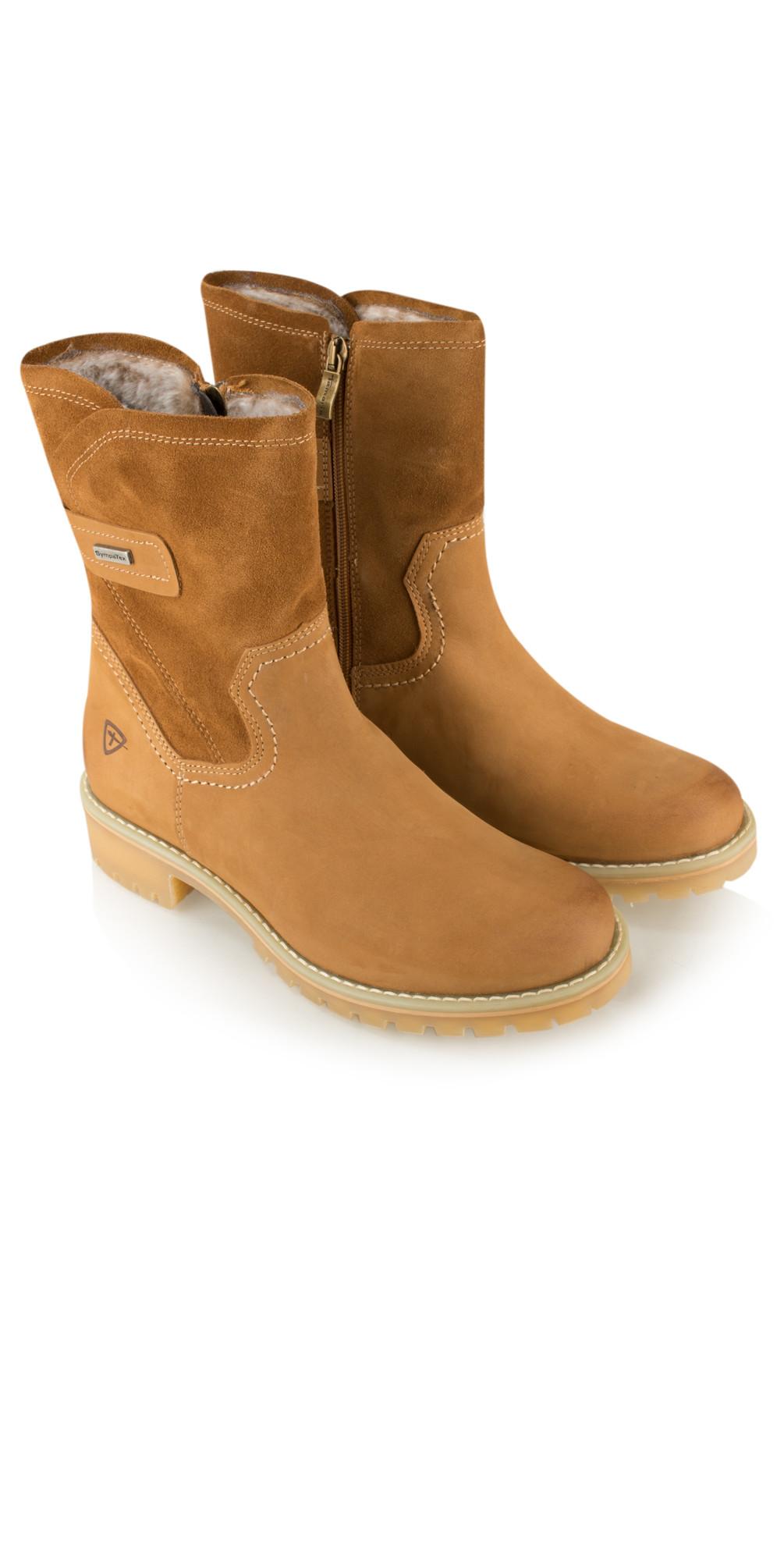 tamaris leather sympatex calf boot in cognac. Black Bedroom Furniture Sets. Home Design Ideas