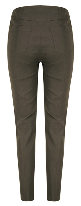 Robell Trousers Bella 78cm Slim Fit Trouser Almond