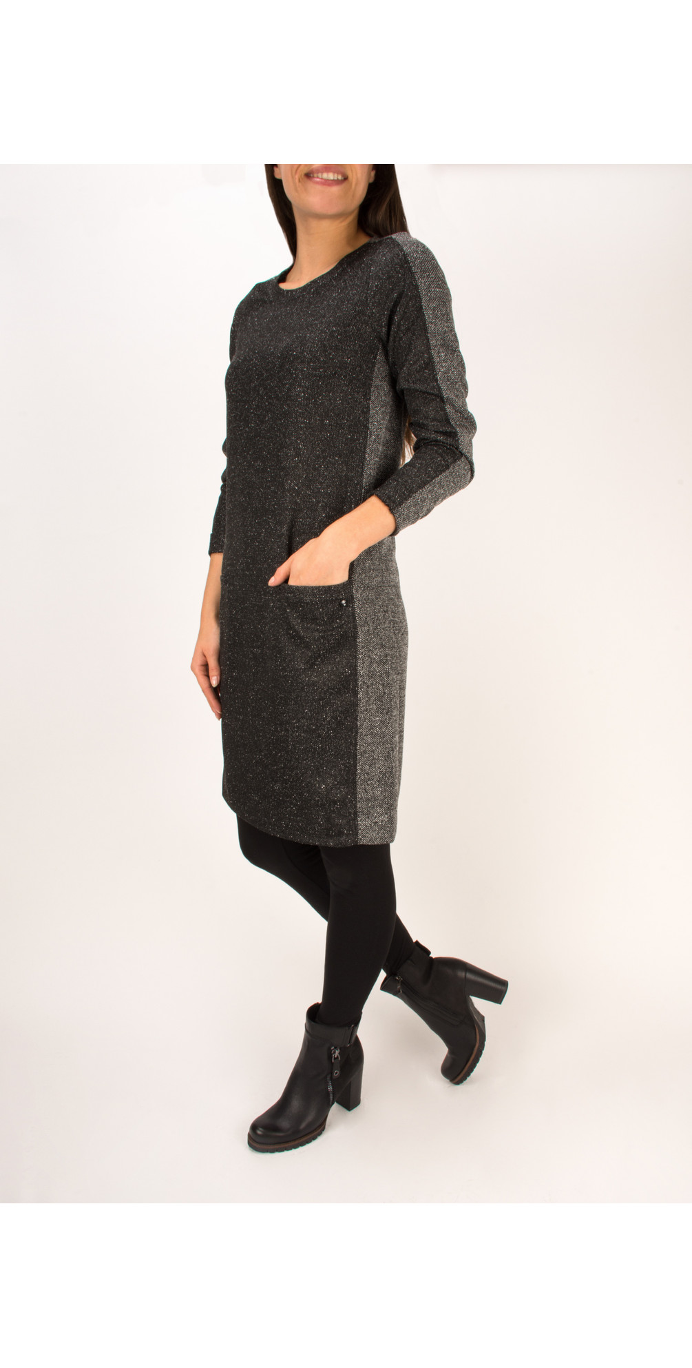 Structured Two Tone Dress main image