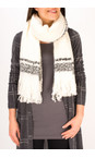 Sandwich Clothing Washed Chalk Checked Chunky Boucle Scarf