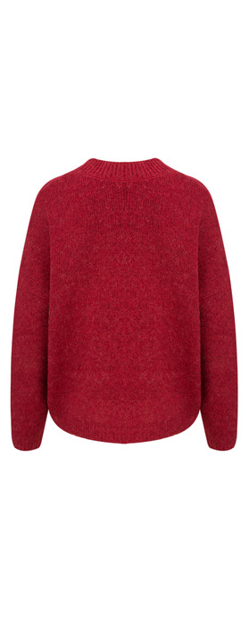 Sandwich Clothing Alpaca Knit Pullover Scarlet Red