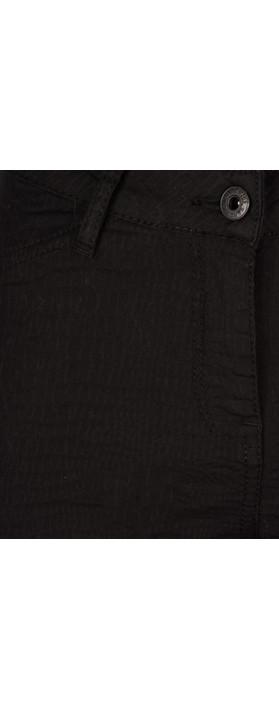 Sandwich Clothing  Jacquard Pattern Stretch Trouser  Black