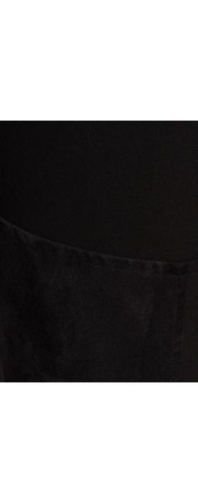 Sandwich Clothing Faux Suede Panel Legging  Black