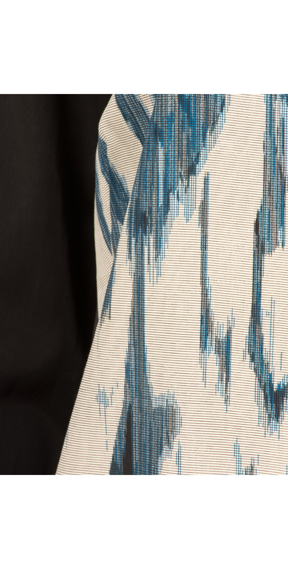 Stained Ikat Print Dress main image