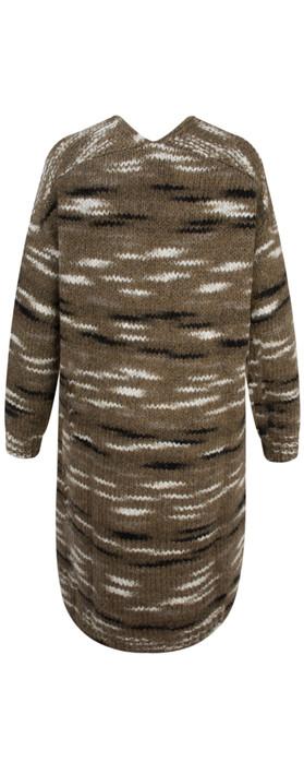 Sandwich Clothing Space Dye Slub Cardigan Natural Camel