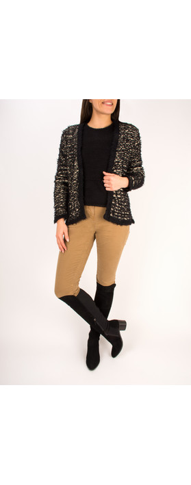 Sandwich Clothing Furry Knitted Cardigan Black