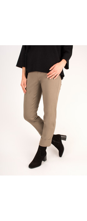 Robell Trousers Bella 7/8 Cropped Trouser  Dark Taupe