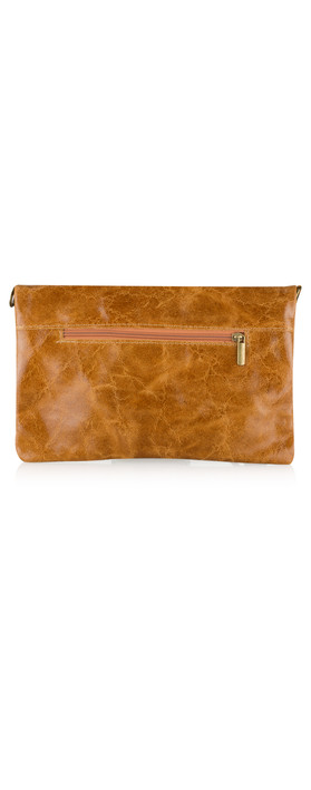 ItaliaB Casta Glazed Clutch Tan