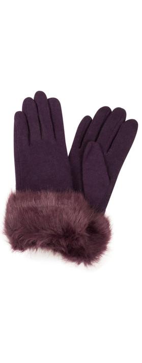 Pia Rossini Monroe Glove Plum