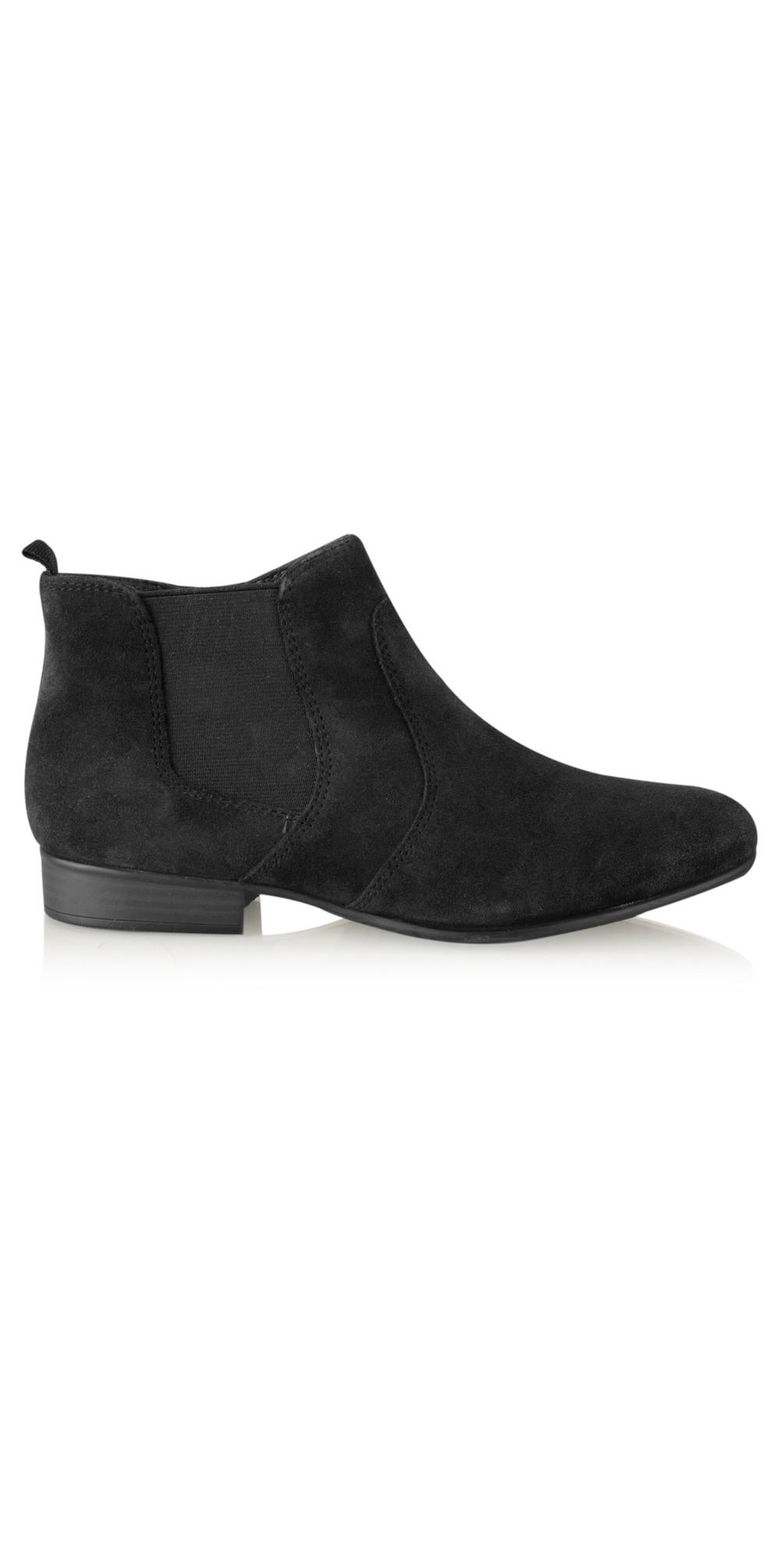 tamaris suede ankle boot in black. Black Bedroom Furniture Sets. Home Design Ideas