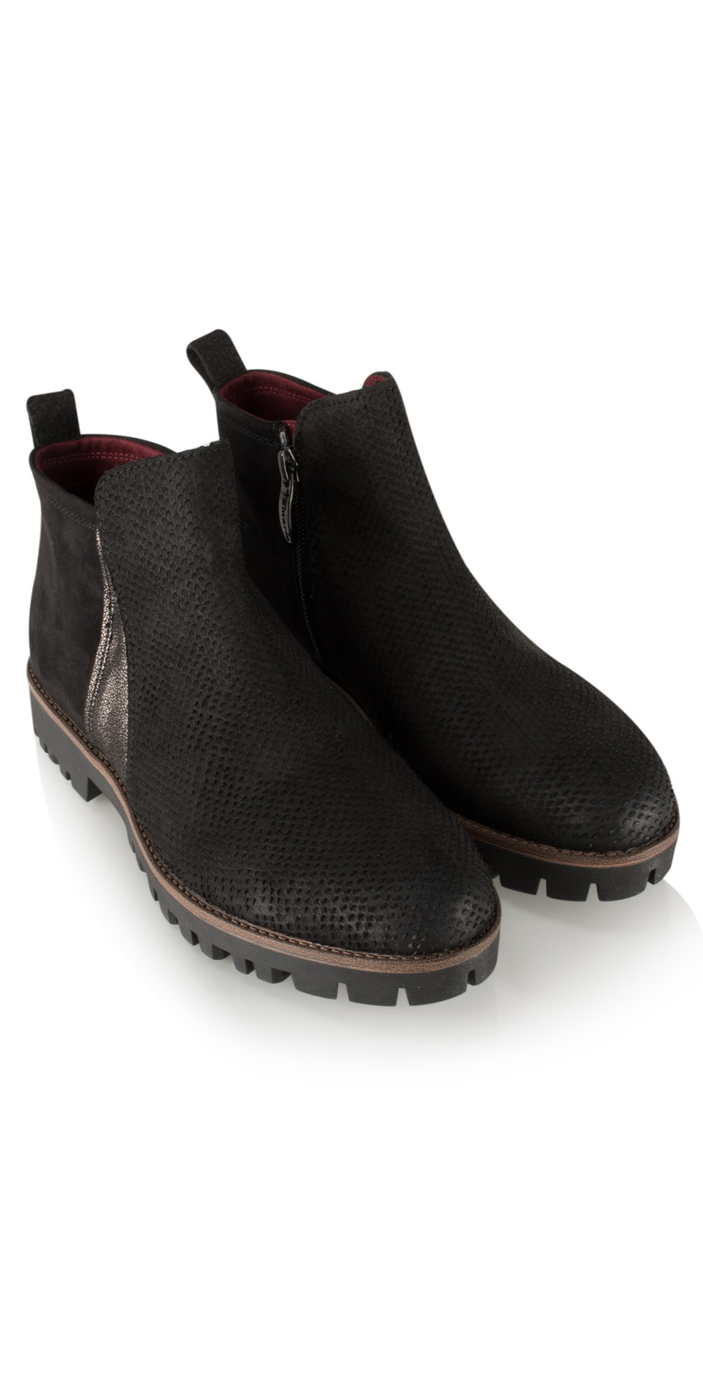 tamaris urban textured suede chelsea boot in black. Black Bedroom Furniture Sets. Home Design Ideas