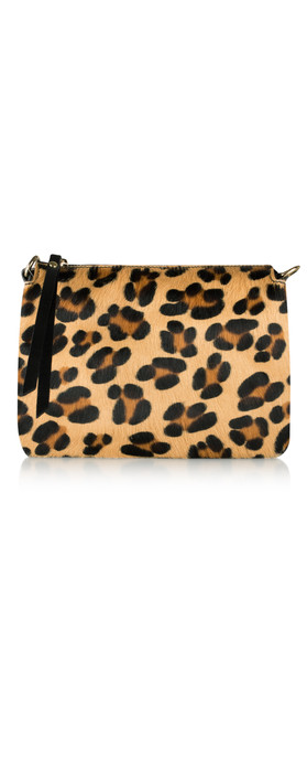 Pure White Palau Cross Body Bag Leopard