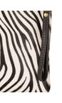 Pure White Zebra Paola Animali Clutch