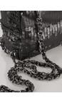 AlexMax Black Cara Matt Sequin Mini Backpack