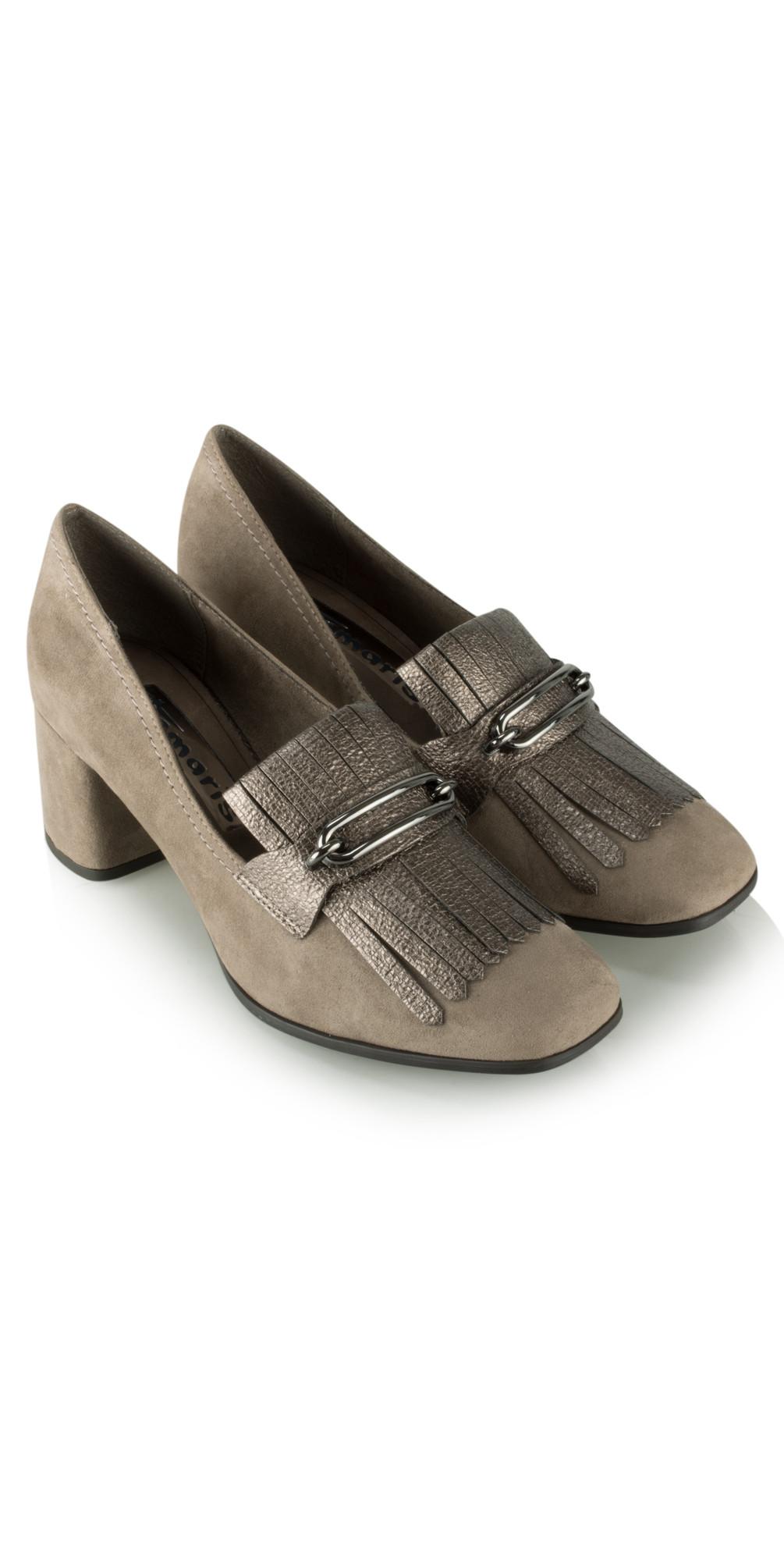 Camerino Block Heel Loafer main image