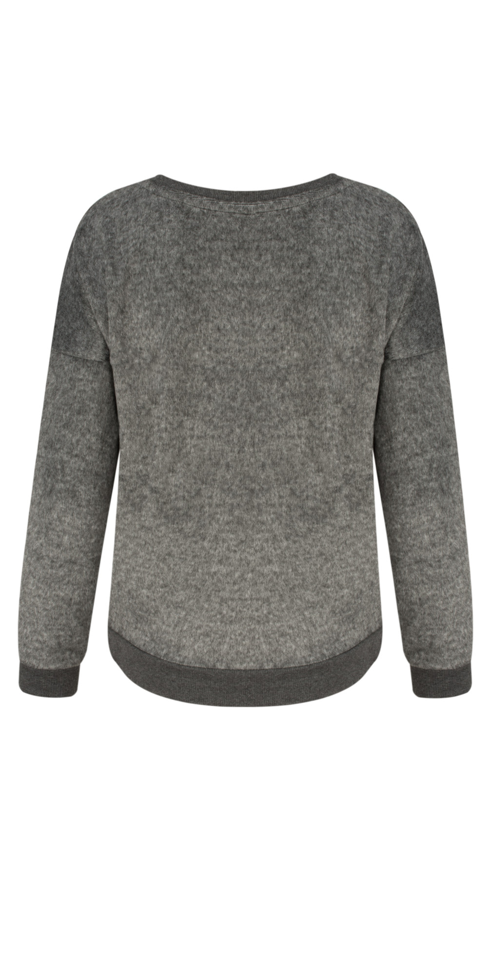 Distressed Twill Jersey Pullover main image