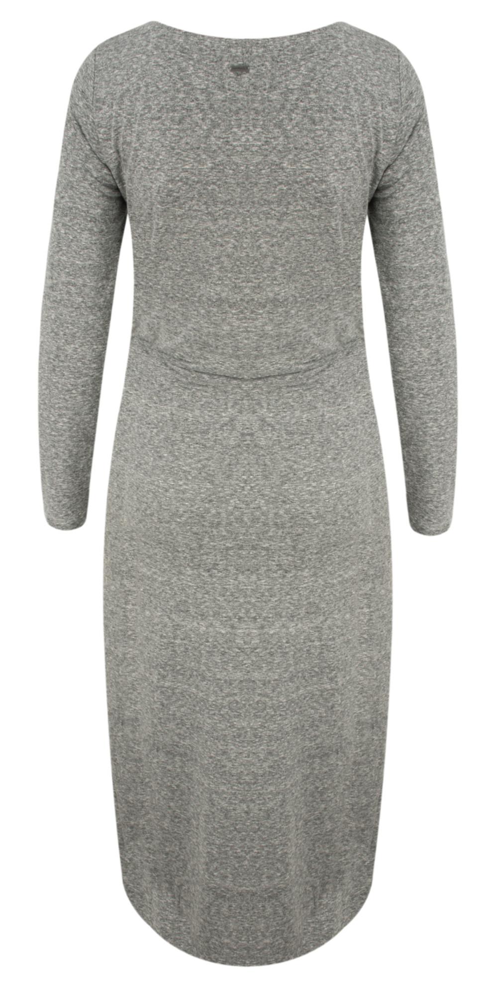 Twist Detail Slub Jersey Midi Dress main image