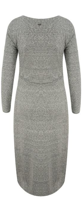 Sandwich Clothing Twist Detail Slub Jersey Midi Dress Washed Steel