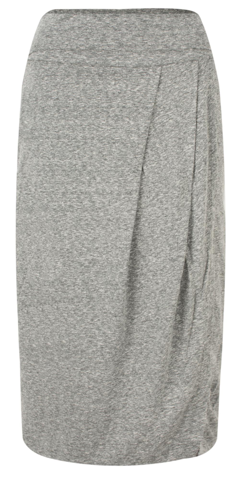 Draped Slub Jersey Skirt main image