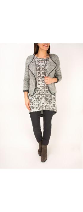 Sandwich Clothing Boucle Knit Jacket Grey Pebble