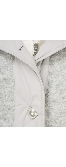 Marc Aurel Luxe Day Hooded Jacket Light Grey Mel