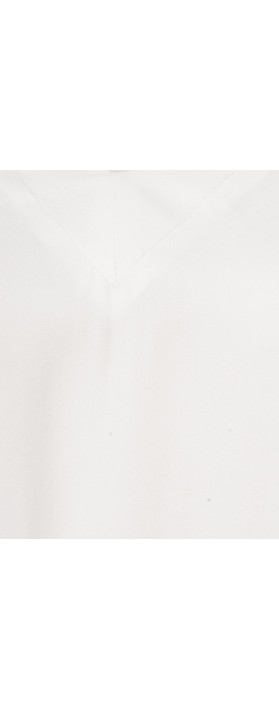 Marc Aurel Luxe Day Drape Blouse Off-White