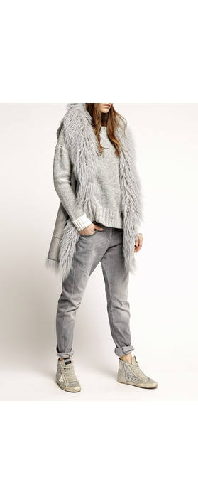 Marc Aurel Luxe Day Mongolian Wool Waistcoat Light Grey