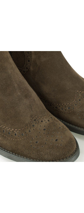Tamaris  Brogue Chelsea Boot Mocca