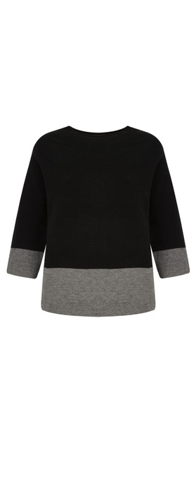 TOC  Jen Colour Block Jumper Black