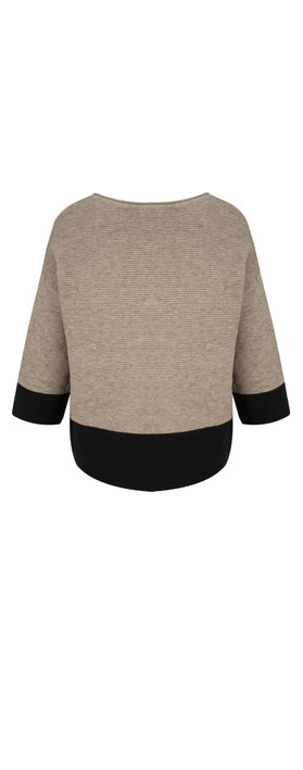 TOC  Jen Colour Block Jumper Mocha