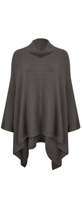 TOC  Janey Oversized Poncho Jumper Charcoal