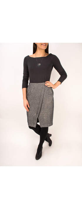 Sandwich Clothing Jacquard Fleece Skirt Grey Magnet