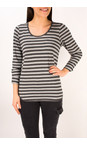 Sandwich Clothing Grey Pebble Striped Jersey Top