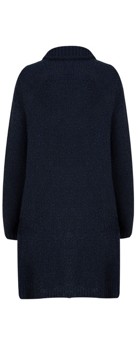 TOC  Carrie Boucle Knit Waterfall Cardi Navy
