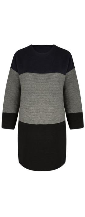 TOC  Dorte Colour Block Jumper Dress Black