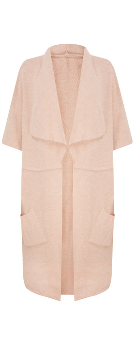 TOC  Caris Easyfit Sleeveless Cardi Blush
