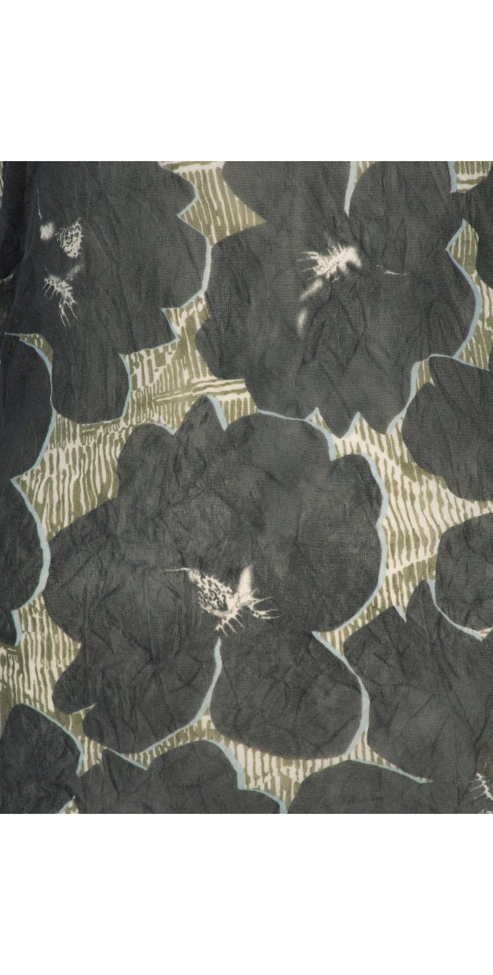 Sheer Crinkle Floral Print Top main image