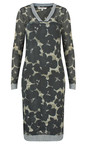 Sandwich Clothing Grey Magnet Sheer Crinkle Floral V-Neck Dress