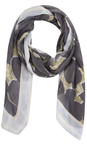 Sandwich Clothing Grey Magnet Floral Print Woven Scarf
