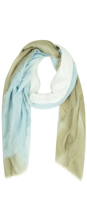 Sandwich Clothing Colour Fade Scarf Sage Green